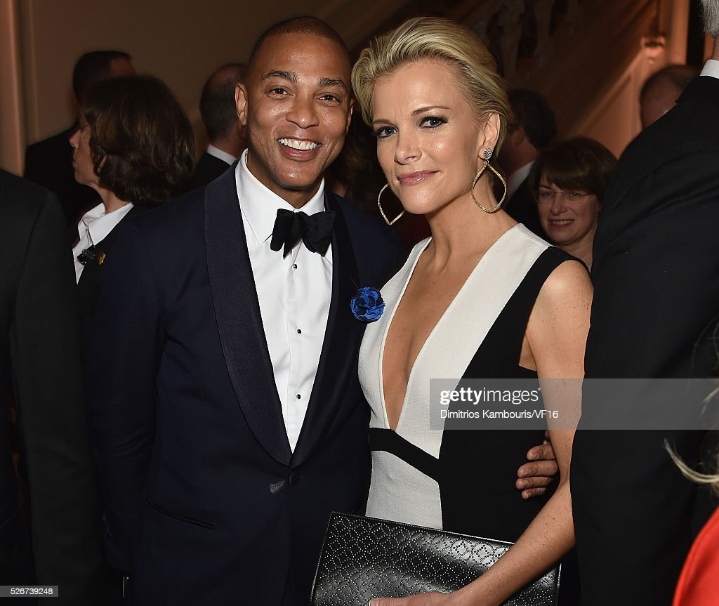 Anchors Don Lemon and Megyn Kelly attend the Bloomberg & Vanity Fair cocktail reception following the 2015 WHCA Dinner at the residence of the French Ambassador on April 30, 2016 in Washington, DC.
