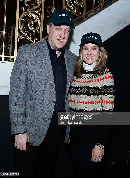 Anchors Michael Kay and Jodi Aplegate attend the 'Cloudy With A Chance of Meatballs 2' Holiday Screening hosted by The Friar's Club at Ziegfeld...