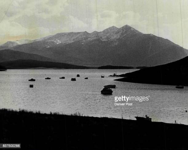 Anchors Resting at the Close of the Day Fishing and luxury boats lay at anchor in a cove on Dillon Reservoir after a day of cruising on Colorado's...