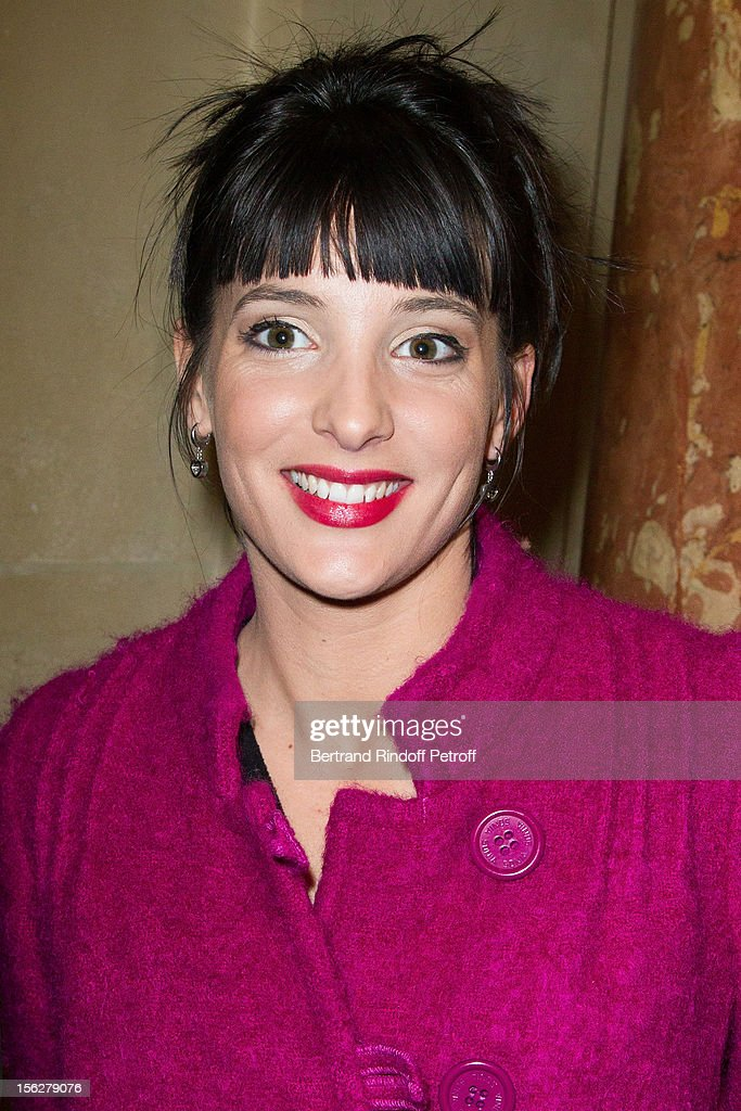 Anchorwoman Erika Moulet attends the Gala de l'Espoir charity event against cancer at Theatre du Chatelet on November 12, 2012 in Paris, France.