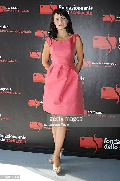 Anchorwoman Lorena Bianchetti attends the 2013 Premio Bresson during the 70th Venice International Film Festival at Excelsior Hotel on September 2...