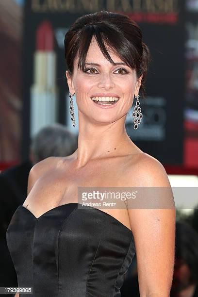 Anchorwoman Lorena Bianchetti attends 'The Zero Theorem' Premiere during the 70th Venice International Film Festival at the Palazzo del Cinema on...