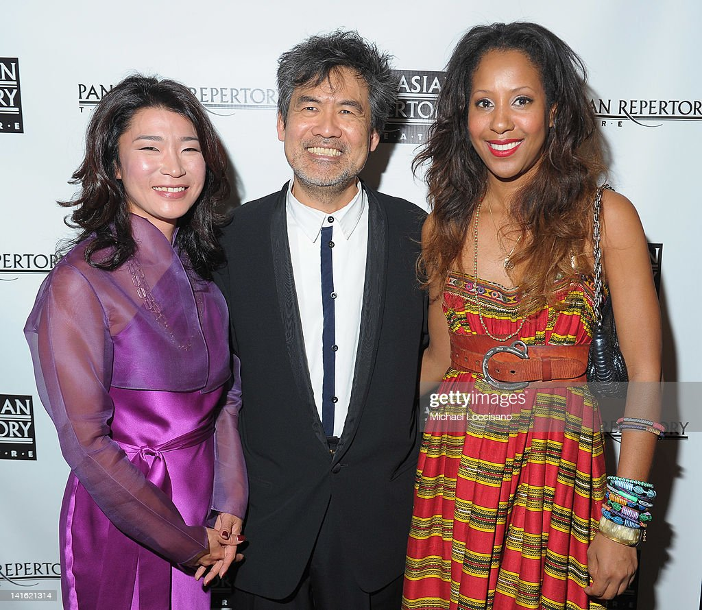 Anchorwoman Vivian Lee, writer David Henry Hwang and National Black Theatre CEO Sade Lythcott attend 'Legacy And Homecoming' the Pan Asian Repertory's 35th Anniversary Gala at The Edison Ballroom on March 19, 2012 in New York City.