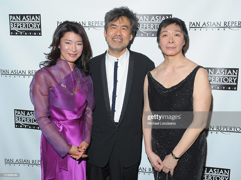 Anchorwoman Vivian Lee, writer David Henry Hwang and Pan Asian Repertory Producing Artistic Director Tisa Chang attend 'Legacy And Homecoming' the Pan Asian Repertory's 35th Anniversary Gala at The Edison Ballroom on March 19, 2012 in New York City.