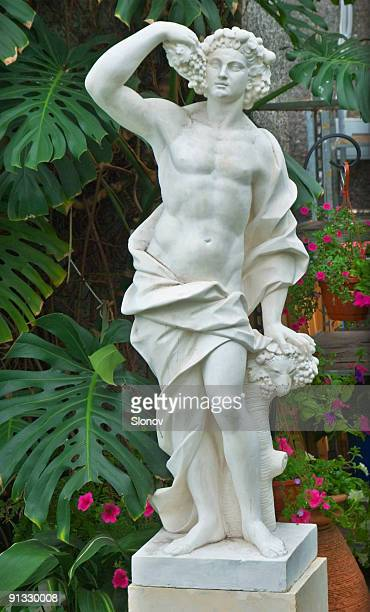 Ancien statue in the garden
