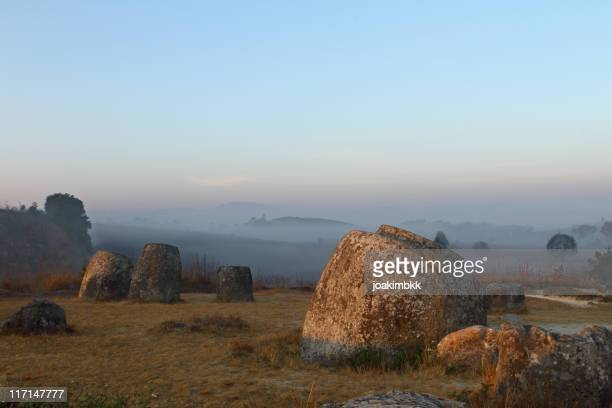 Ancient and famous Plain of Jars in Laos