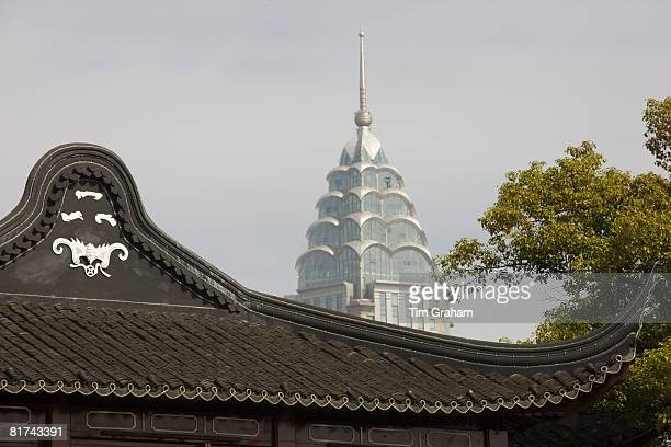 Ancient and modern architecture in Shanghai China