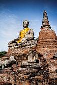 Ancient Buddha relics in Ayutthaya