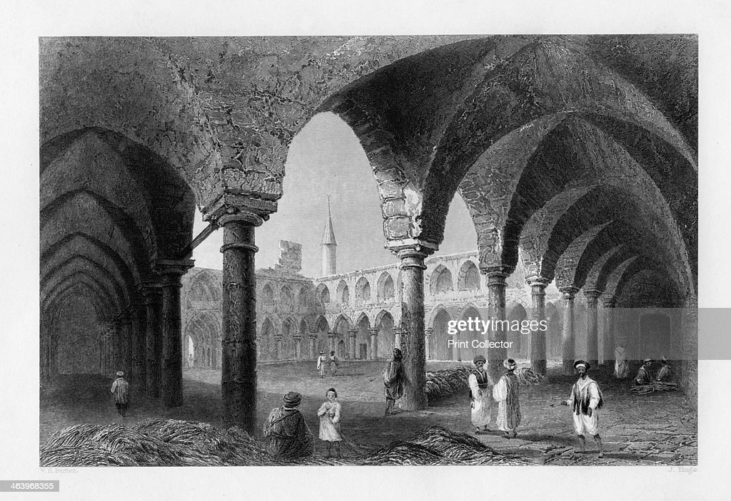 Ancient buildings in St Jean D'Acre Israel 1841 From Syria the Holy land and Asia Minor volume III by John Carne published by Fisher Son Co