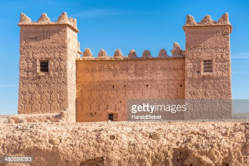 Ancient casbah building in Morocco, North Africa : Stock Photo