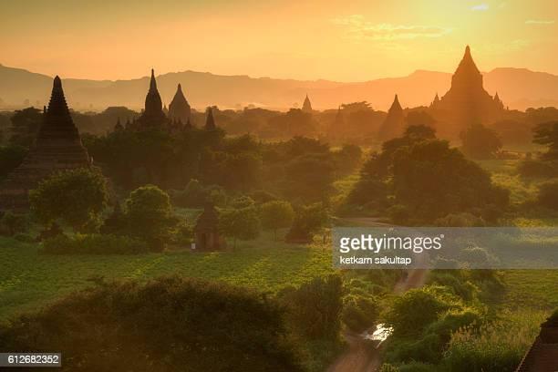 Ancient city of Bagan at Sunset