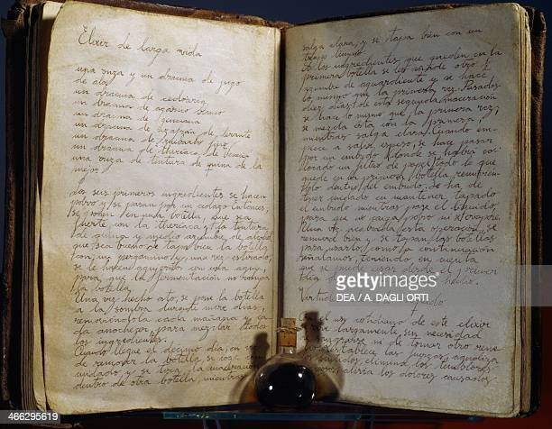 Ancient formulas for the elixir of life copy 19th century