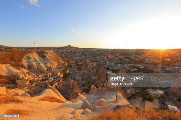 Ancient Goreme town and castle of Uchisar