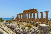 Ancient Greek Ruins in Selinunte, Sicily