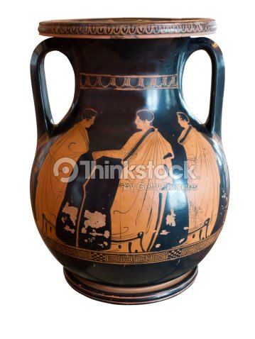 Ancient Greek Vase Exposed In Museum Stock Photo Thinkstock