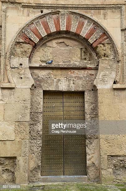 Ancient Islamic doorway at the Mezquita