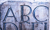 Ancient Latin Inscription characters