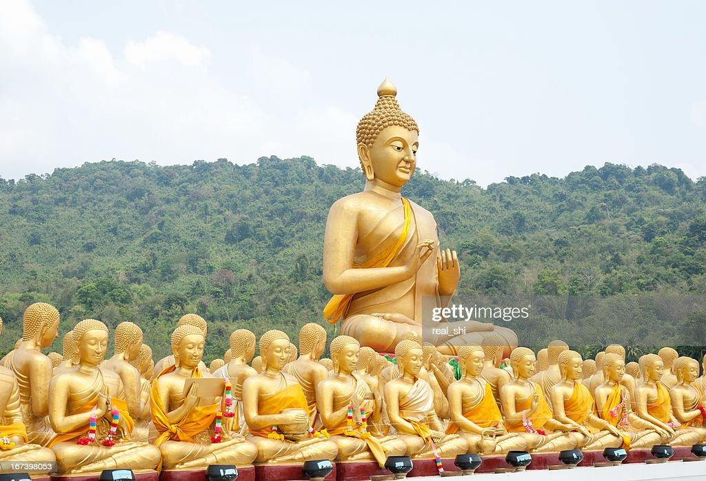 Ancient Lord Buddha Statue : Stock Photo