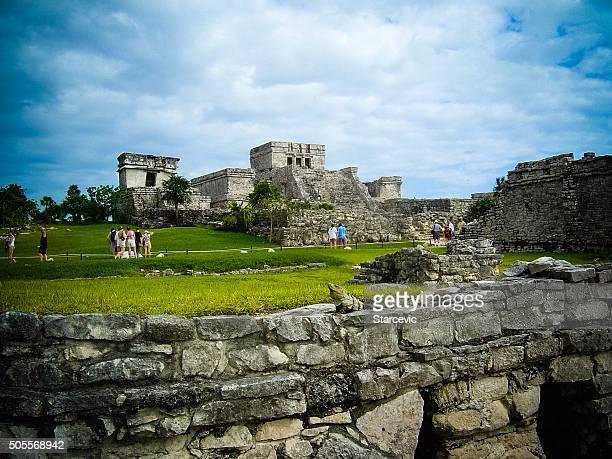 Antiken Ruinen der Maya in Tulum, Mexiko