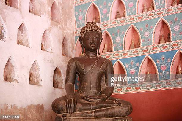 Ancient mediation Buddha statue , Wat Sisaket