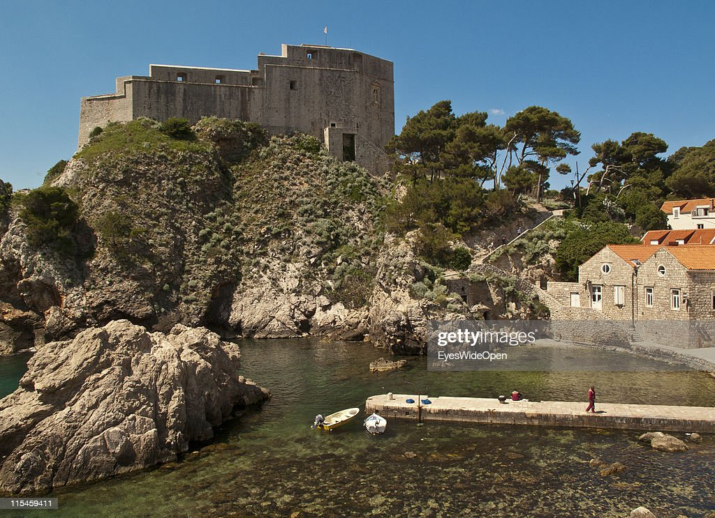 Ancient monuments and restored buildings of the UNESCO World Heritage Site city of Dubrovnik on the Dalmatian coast of the Adriatic Sea on May 13, 2011 in Dubrovnik, Croatia. The old town is surrounded by a 1,9 km long city wall and called the Pearl of the Adriatic.