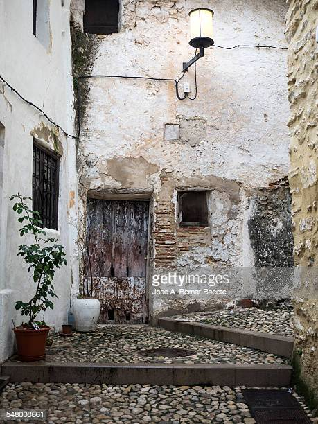 Ancient, narrow street with steps