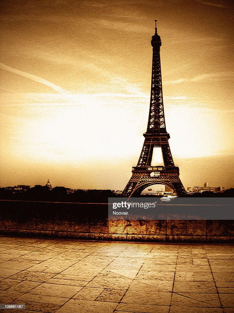 Ancient Paris Tour Eiffel : Stock Photo