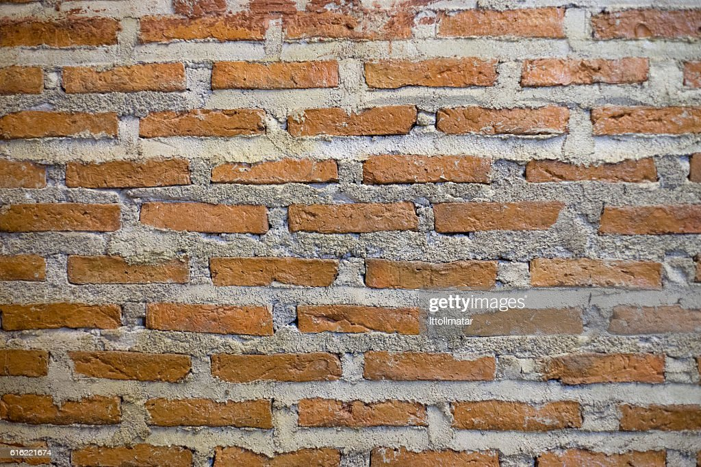 ancient red Brick wall texture and background : Stock-Foto