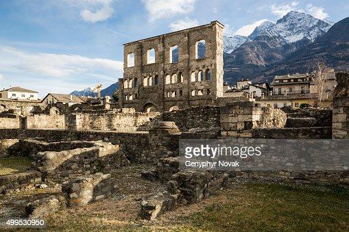 Ancient Roman Theatre, Aosta Italy