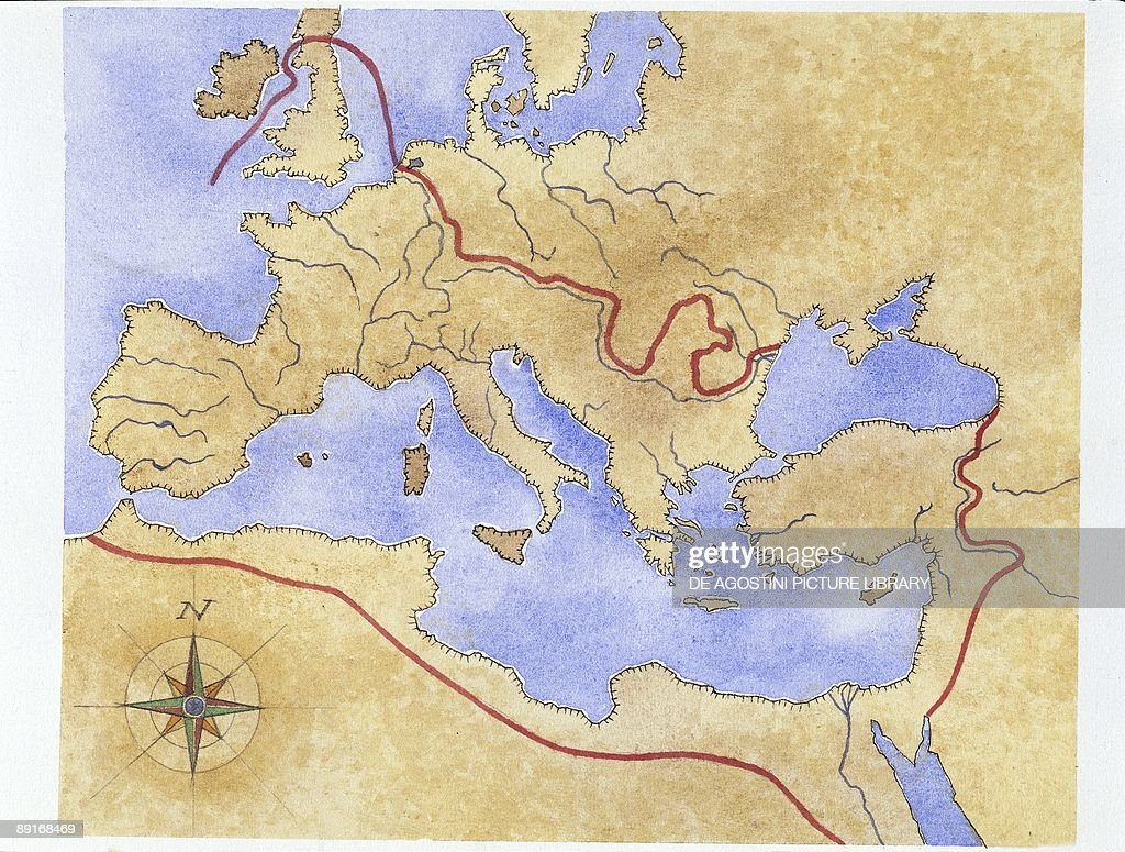 Ancient Rome Map Of Roman Empire Illustration Pictures Getty - Ancient rome map roman empire
