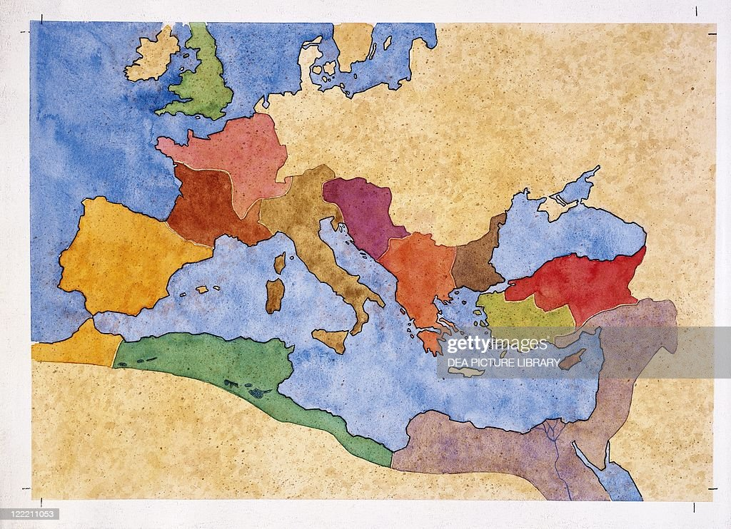 Map Of Roman Empire Under Emperor Diocletian Rule AD - Ancient rome map roman empire