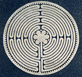 A labyrinth is an ancient symbol of wholeness. It combines the repeating shape of circles and a complex path inward. The Labyrinth represents the path to our own center, one's own perfect place in the