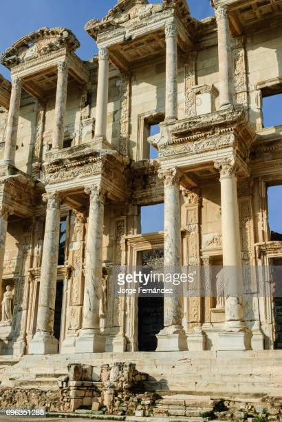Ancient ruins of the Library of Celsus