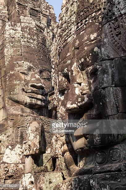 Ancient sandstone carvings of king Jayavarman II