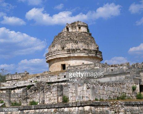 Ancient structure in Pre-Hispanic City of Chichen-Itza in Mexico : Stock Photo