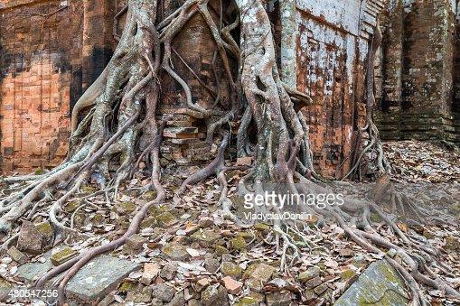 Antigo Templo Koh Ke, Camboja : Foto de stock