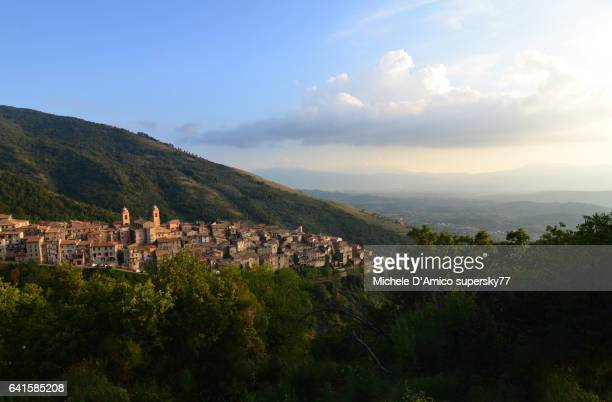Ancient town on the top of an Italian hill