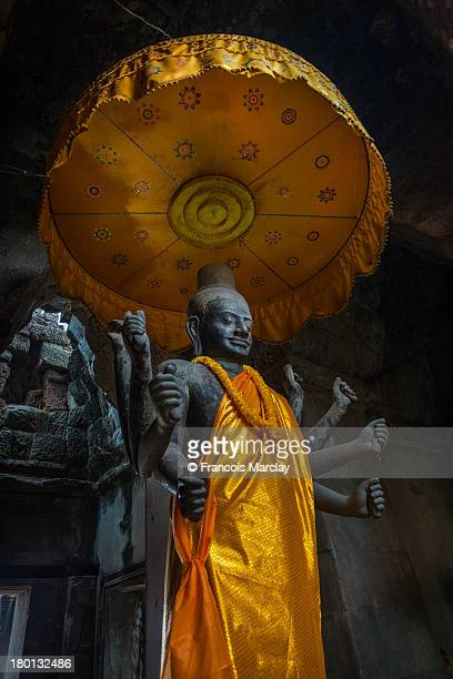 Ancient Vishnu Hindu God statue