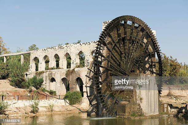 Ancient waterwheel and aqueduct