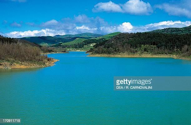 Ancipa artificial lake Nebrodi Regional Park Sicily Italy