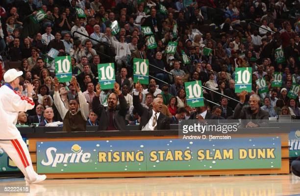 NBA and ABA Dunk legends Larry Kenon Artis Gilmore George 'Ice Man' Gervin David Thompson and Julius 'Dr J' Erving give 10's across the board...