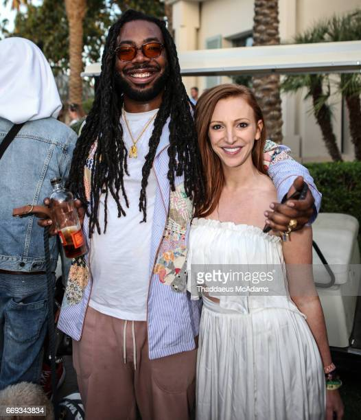 DRAM and Alisa Jacobs at the REVOLVE Desert House during Coachella on April 15 2017 in Palm Springs California on April 15 2017 in Palm Springs...