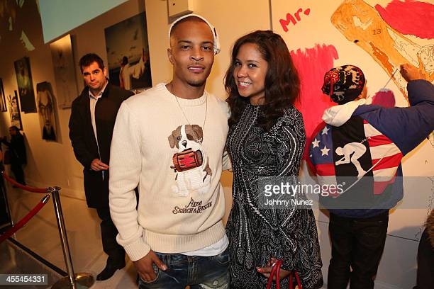 TI and Angela Yee attend the Book Of Kings launch event at Pillars 38 on December 11 2013 in New York City