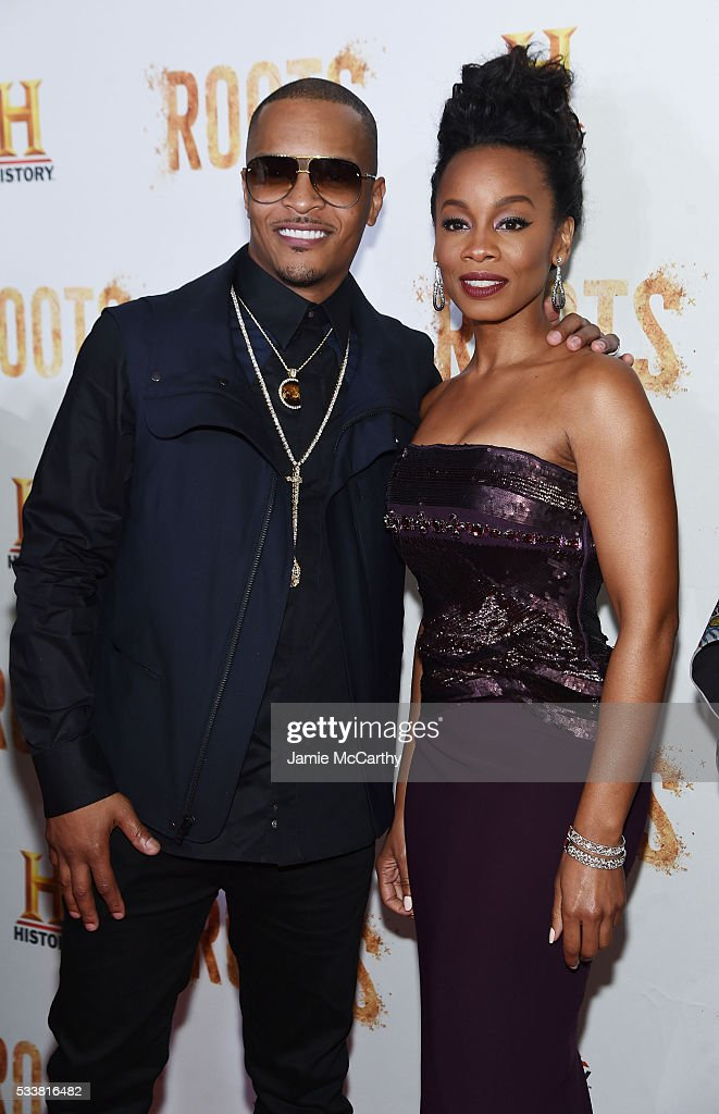 I and Anika Noni Rose attend the 'Roots' night one screening at Alice Tully Hall Lincoln Center on May 23 2016 in New York City