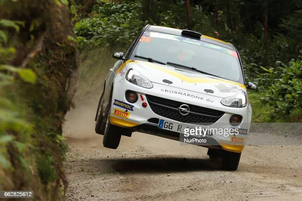 HUTTUNEN and ANTTI LINNAKETO in OPEL ADAM R2 of ADAC OPEL RALLYE JUNIOR TEAM in action during the Sete Cidades of the FIA ERC Azores Airlines Rallye...