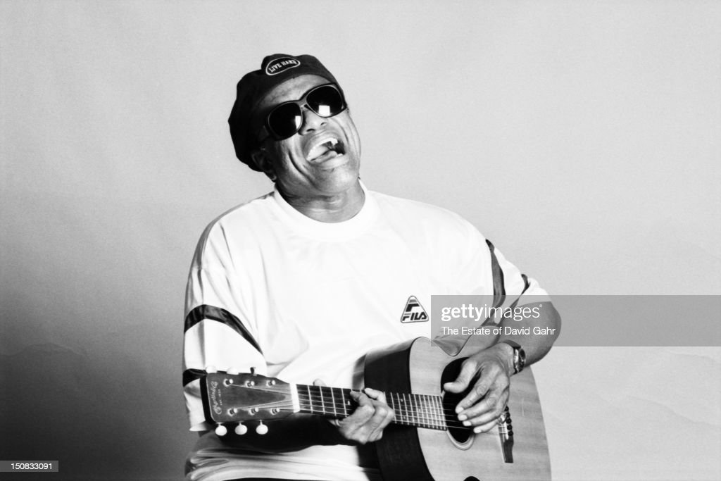 R and B and soul singer songwriter and musician Bobby Womack poses for a portrait on July 21, 1998 in New York City, New York.