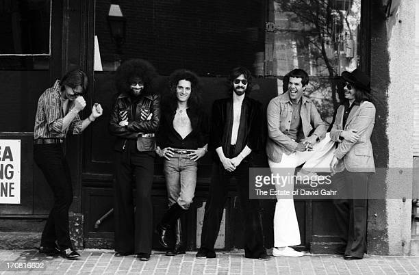 R and B influenced blues rock band The J Geils Band pose for a portrait on May 20 1977 in Boston Massachusetts