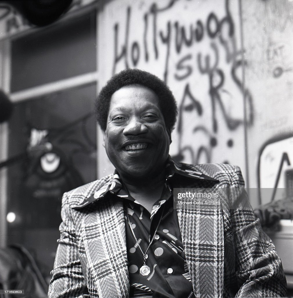 R and B musician Bobby 'Blue' Bland poses for a portrait backstage at the WhiskyAGoGo on January 4 1974 in Los Angeles California