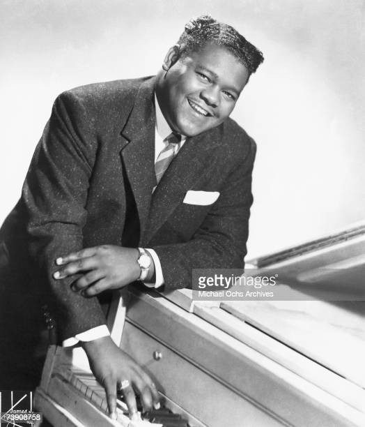 R and B singer and pianist Fats Domino poses for a portrait circa 1956 in New York City New York