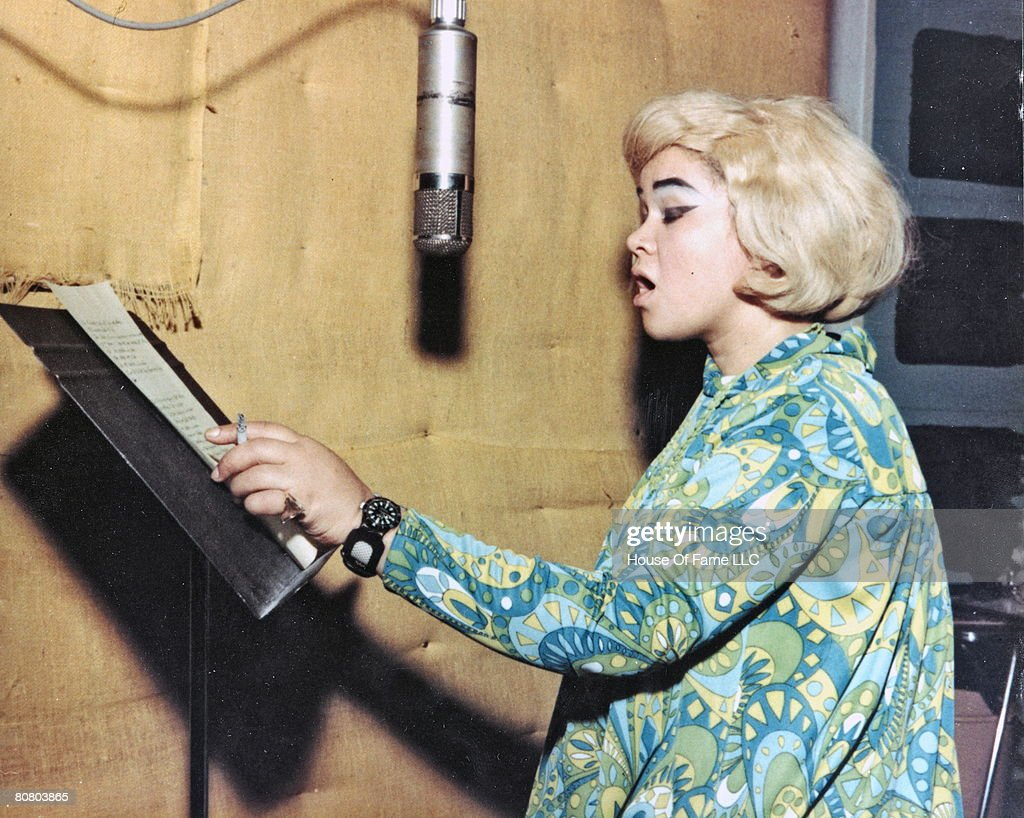 R and B singer <a gi-track='captionPersonalityLinkClicked' href=/galleries/search?phrase=Etta+James&family=editorial&specificpeople=833123 ng-click='$event.stopPropagation()'>Etta James</a> recording at Fame Studios circa 1967 in Muscle Shoals, Alabama.